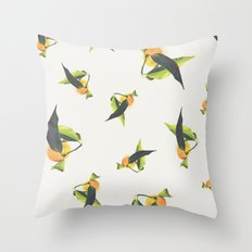 Tangerine Pattern Throw Pillow