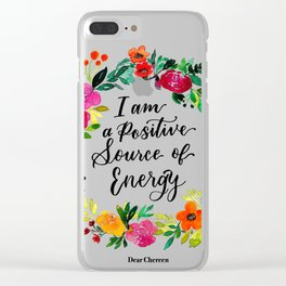 Positive Source of Energy Clear iPhone Case