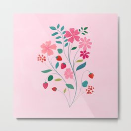 Strawberry Bouquet Metal Print