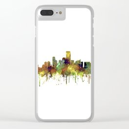 Jersey City Skyline - Safari Buff Clear iPhone Case