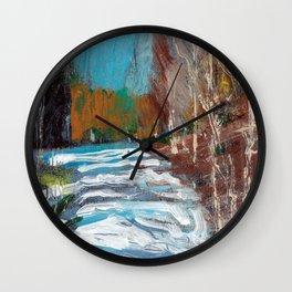 Melting Snow in McKinnon Ravine / Dennis Weber / ShreddyStudio Wall Clock