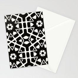 MANTRA - black and white minimal painting abstract art brooklyn trendy mandala street city art work Stationery Cards