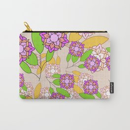 Simple geometric bloom Carry-All Pouch