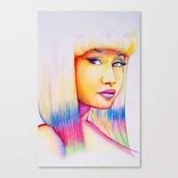 nicki Canvas Prints featuring Nicki by Jaimie