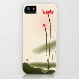 Oriental Lotus 002 iPhone Case
