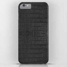 Gator Black Leather Print Slim Case iPhone 6s Plus