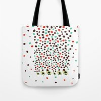 avocado Tote Bags featuring avocado by singingsaw