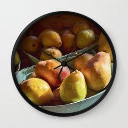 Pear Golden Wall Clock