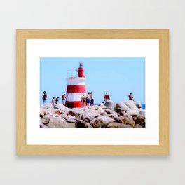 Lighthouse Portugal Framed Art Print