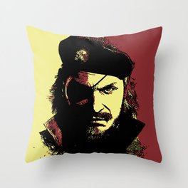 Big Boss (naked snake from metal gear solid) Throw Pillow