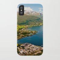 norway iPhone & iPod Cases featuring Sandane, Norway by MankiniPhotography