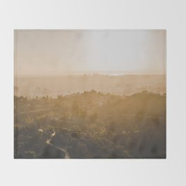Golden Hour - Los Angeles, California Throw Blanket