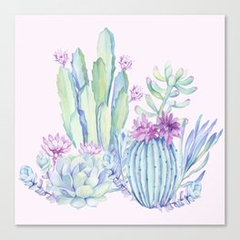 Mixed Cacti Pink #society6 #buyart Canvas Print