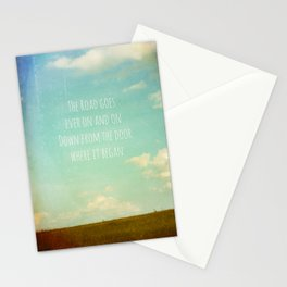 the road goes ever on Stationery Cards