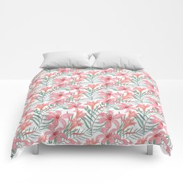 Pink lilies. Comforters