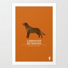 Chocolate Labrador Retriever Art Print
