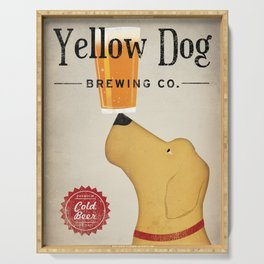 Yellow Dog Lab Labrador Brewing Beer Fowler Serving Tray