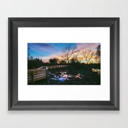 Marsh Reflections Framed Art Print