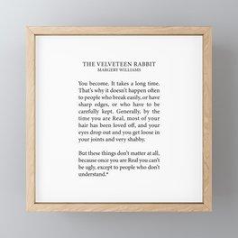 Becoming Real, Velveteen Rabbit Framed Mini Art Print