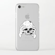 Skull In Hands Clear iPhone Case