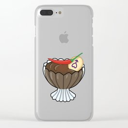 Mars' Chocolate Mousse Clear iPhone Case