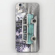 Vintage van. Green iPhone & iPod Skin