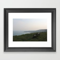 The White Cliffs of Dover, England (2012) Framed Art Print