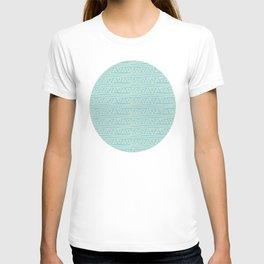 Blue Scribbles Pattern 05 T-shirt