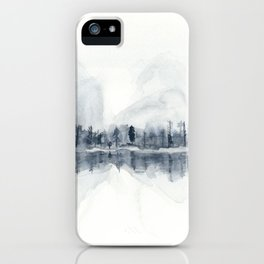 The Mountains in Winter iPhone Case
