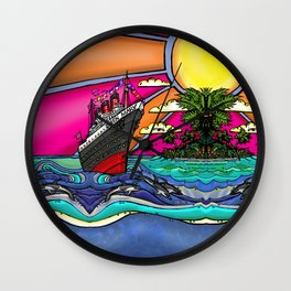 Queen Mary and Dolphins Wall Clock