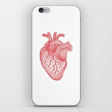 abstract red heart iPhone & iPod Skin