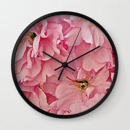 Everything's Peachy Wall Clock