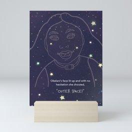 Okelani Outer Space! Mini Art Print