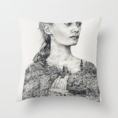 Don't Be Tempted To Look Back Throw Pillow