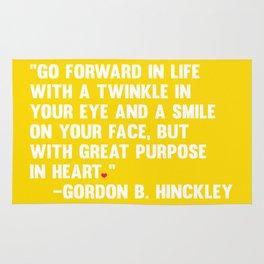 Go Forward in Life Rug