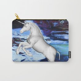 Unicorn in the Snow Carry-All Pouch