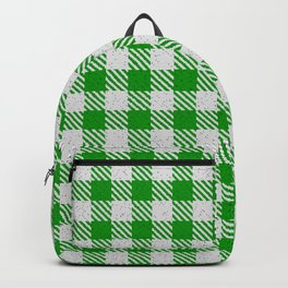 Islamic Green Buffalo Plaid Backpack