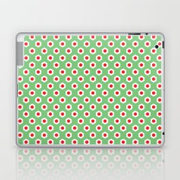 Holiday Hexies Mint & Red Laptop & iPad Skin
