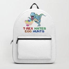 T-Rex Hates Egg Hunts Backpack