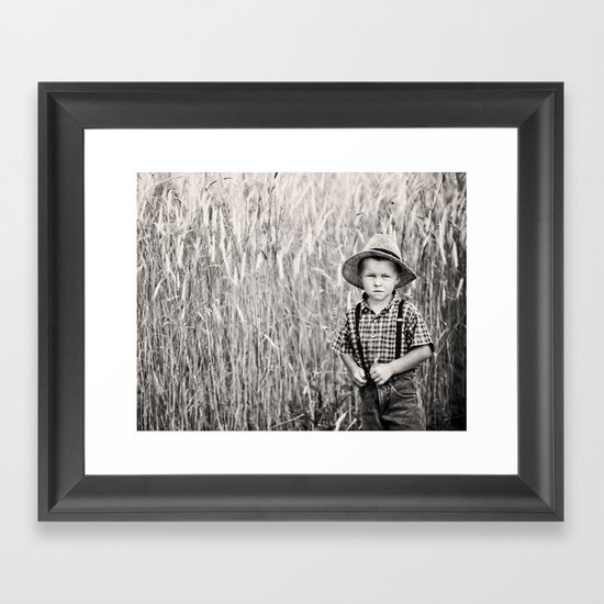 Little farmer Framed Art Print