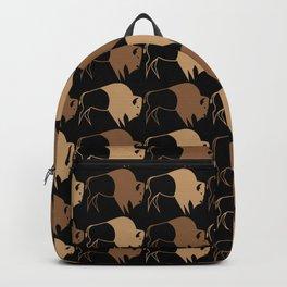 Native American Buffalo Running Backpack
