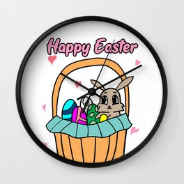 Easter Jesus Resurrection Egg Eggs Bunny Hunt Gift Wall Clock
