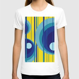 Retro Vintage Graphic Rings yellow T-shirt