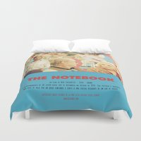 notebook Duvet Covers featuring The Notebook - Nick Cassavetes by Smart Store
