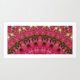 Pink Flower in Greece 2 Art Print