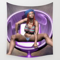 relax Wall Tapestries featuring Relax by Brian Raggatt