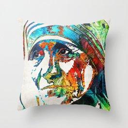Mother Teresa Tribute by Sharon Cummings Throw Pillow