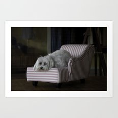 Me and My Sofa Art Print