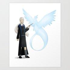 Pokémon meets Hogwarts - Team Blue Art Print