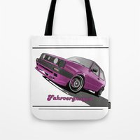vw Tote Bags featuring VW  by Valerie Agrusa Photography